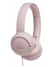 Слушалки JBL - T500, розови    -1