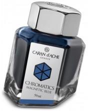 Мастило за писалка Caran d'Ache Chromatics – Син, 50 ml -1