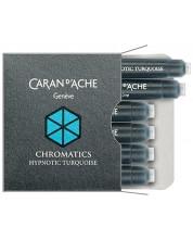 Патрончета за писалка Caran d'Ache Chromatics – Тюркоаз, 6 броя