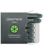 Патрончета за писалка Caran d'Ache Chromatics –  Зелен, 6 броя