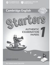 Cambridge English Starters 1 for Revised Exam from 2018 Answer Booklet