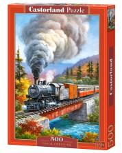 Пъзел Castorland от 500 части - Преминаващ влак