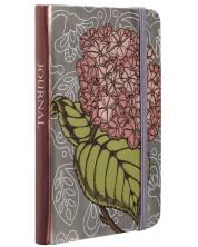 Тефтер с ластик Carny - A6, 80 листа, зелено и розово