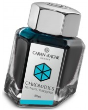 Мастило за писалка Caran d'Ache Chromatics – Тюркоаз, 50 ml -1
