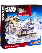 Игрален комплект Hot Wheels Star Wars - Echo Base Battle