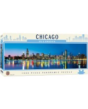 Панорамен пъзел Master Pieces от 1000 части - Чикаго, Илинойс -1
