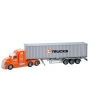 Детска играчка City Service - Камион с ремарке, със звук и светлини -1