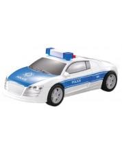Детска играчка City Service - Полицейски автомобил, 1:28, със звук и светлини -1