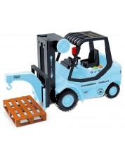 Детска играчка City Service - Електрокар, със звук и светлини -1