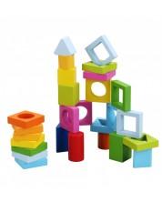 Дървени блокчета - геометрични фигури за игра Classic World