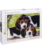 Пъзел Clementoni от 500 части - Кученца