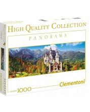 Панорамен пъзел Clementoni от 1000 части - Замъкът Нойшванщайн, Германия