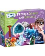 Научен комплект Clementoni Science & Play - Скъпоценни камъни и кристали -1