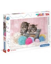 Пъзел Clementoni от 104 части - Сладки котенца -1