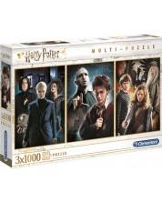 Пъзел Clementoni от 3 x 1000 части - Хари Потър