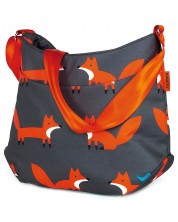 Чанта за бебешка количка Cosatto - Charcoal Mister Fox
