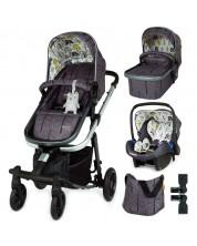 Бебешка количка Cosatto Giggle Quad - Fika Forest, с чанта, кошница и адаптери -1
