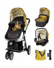 Бебешка количка Cosatto Giggle 3 - Spot The Birdie, с чанта, кошница и адаптери -1
