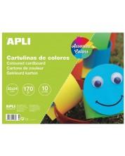 Блокче за рисуване Apli - Цветно, 10 листа, 10 цвята