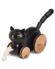 Играчка за дърпане Classic World - Черна котка -1