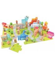 Игра с кубчета и пъзел Classic World - Градски център -1