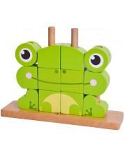 Дървен пъзел с кубчета Classic World - Жаба -1