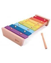 Дървена играчка Classic World - Ксилофон с цветовете на дъгата -1