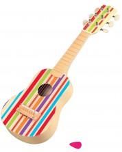 Детски музикален инструмент Lelin - Китара, с цветни ленти -1