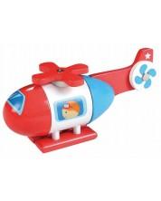 Дървена играчка Lelin - Хеликоптер, с магнити