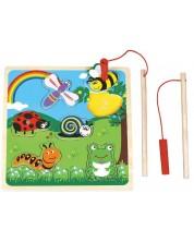 Дървена магнитна игра-пъзел Lelin - На лов за буболечки -1