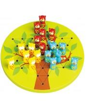Дървена игра Lelin - Китайска дама, с бухалчета