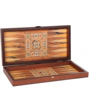 Комплект шах и табла Manopoulos - С ориенталски мотиви, 30 x 15 cm -1