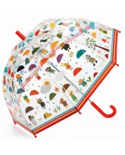 Детски чадър Djeco - Под дъжда -1