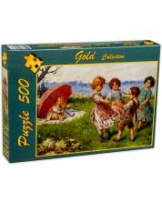 Пъзел Gold Puzzle от 500 части - Деца играят