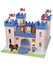 Игрален комплект Lelin - Замък, с войници и аксесоари
