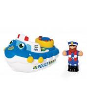 Детска играчка Wow Toys Emergency - Полицейската лодка на Пери -1