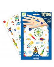 Детски татуировки Djeco - Space Oddity, светещи в тъмното -1