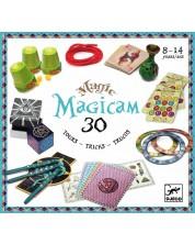 Детски комплект за фокуси Djeco - Magicam, 30 фокуса