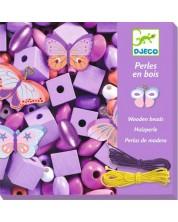 Творчески комплект Djeco - Създай бижута с пеперуди, 450 мъниста -1