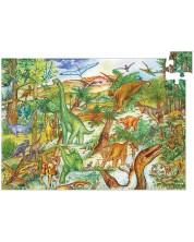 Детски пъзел за наблюдателност Djeco – Динозаврите, 100 части + книжка