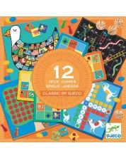 Комплект класически детски игри Djeco - 12 игри -1
