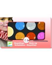 Детски грим за лице Djeco - Металик цветове -1