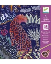 Комплект скреч картини Djeco - Lush Nature -1