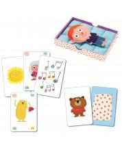 Детска игра с карти Djeco - Bisous Dodo -1