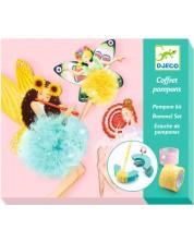 Творчески комплект за тъкане Djeco - Феи с помпони