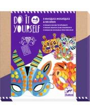Творчески комплект Djeco - Направи си 8 маски Jungle Animals -1