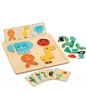 Детска игра Djeco - GeoBasic, с магнитни карти -1