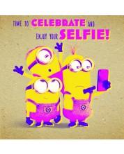 Поздравителна картичка Danilo - Crafty Minions: Selfie