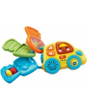 Бебешка дрънкалка Vtech - Ключодържател, със звук и светлина -1