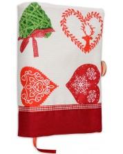 Рокля за книга: Коледни мотиви (Червена) -1